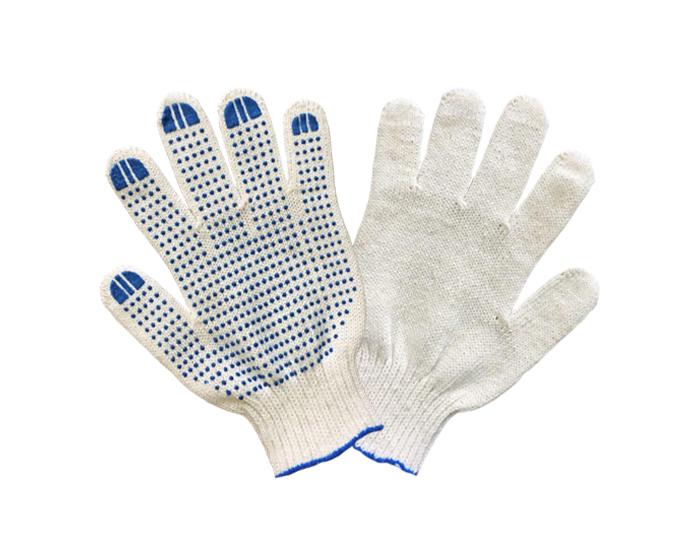 Перчатки ХБ 5 нитей 7,5 класс с ПВХ 200текс