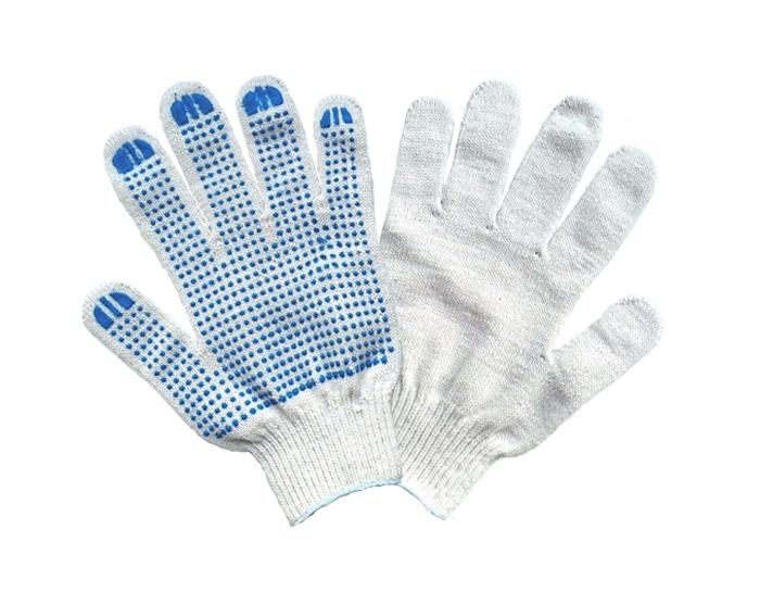 Перчатки хб с ПВХ 6 нитей, 10 класс