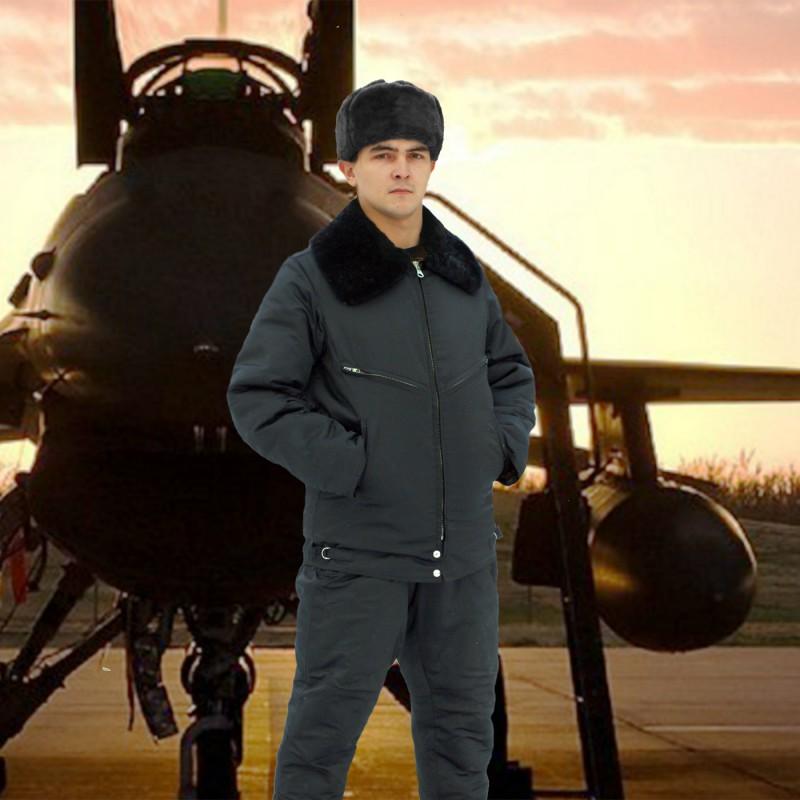 Куртка меховая для летного состава (черная)