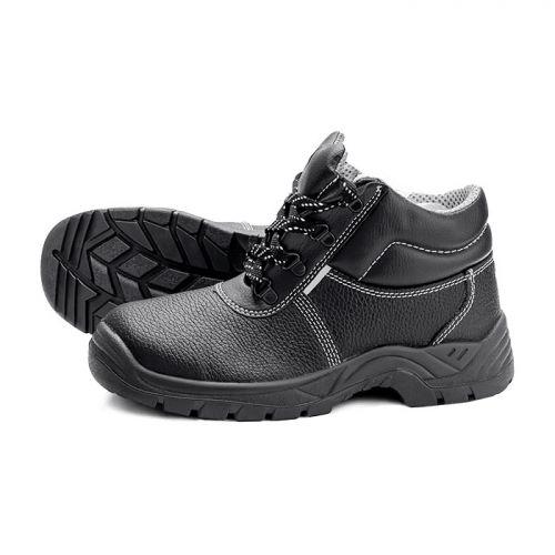 Ботинки кожаные (цвет черный)