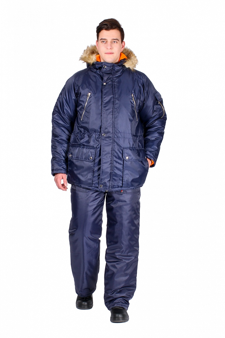 Куртка зимняя Аляска, т.синий
