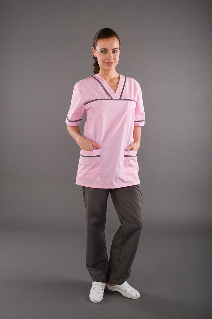 Костюм женский Ирис, розовый/серый