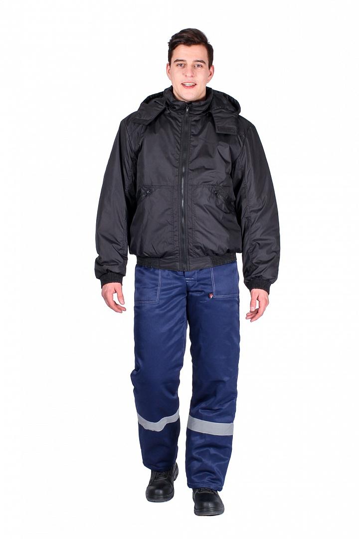 Куртка демисезонная Бомбер, черный