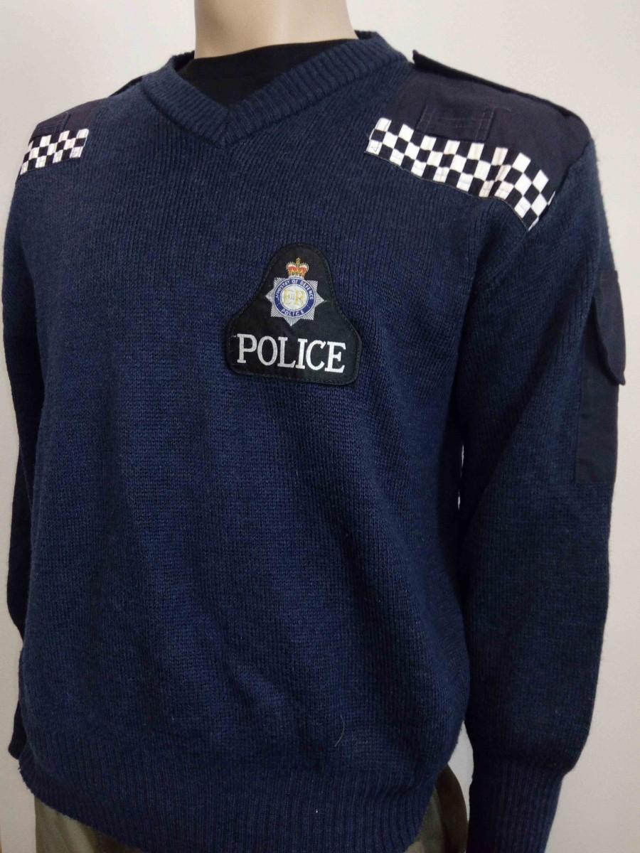 Свитер полицейский синий