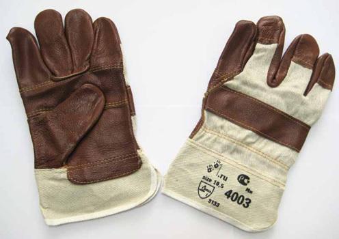 Перчатки комбинированные кожа (мебельная)