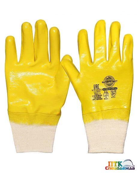 Перчатки НИТРИЛ-ЛАЙТ-SР РП желтые с полным обливом