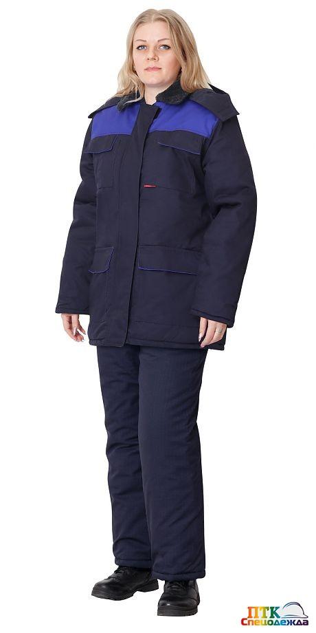 Куртка на утепляющей прокладке женская (тк.антиэлектростатическая Премьер-комфорт 250А)