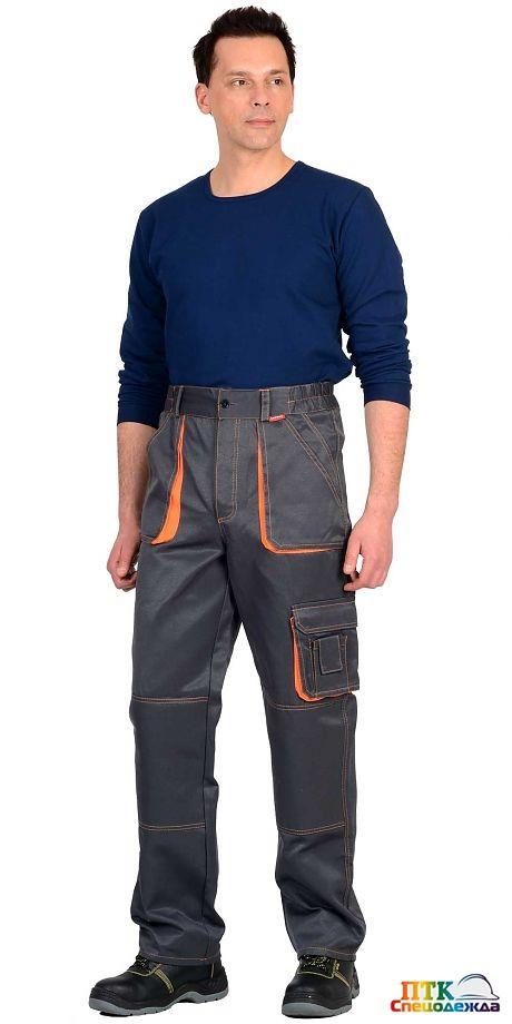 Брюки СИРИУС-CROWN т.серый с оранжевым