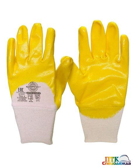 Перчатки НИТРИЛ-ЛАЙТ-SР РЧ желтые с частичным обливом