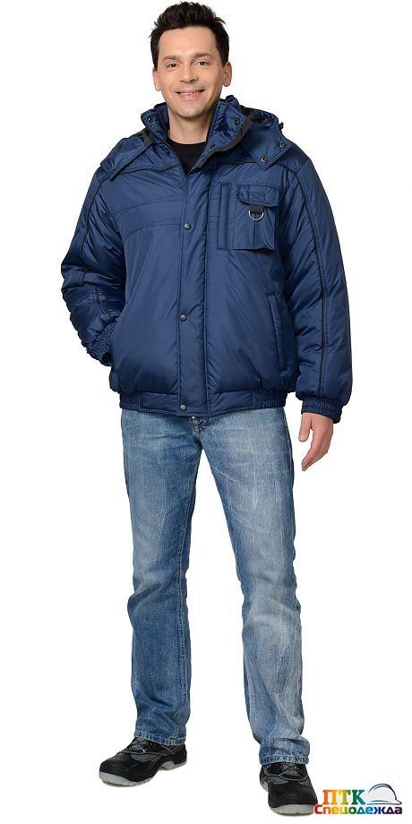 """Куртка """"ОЛИМП"""" синяя с черной окантовкой"""