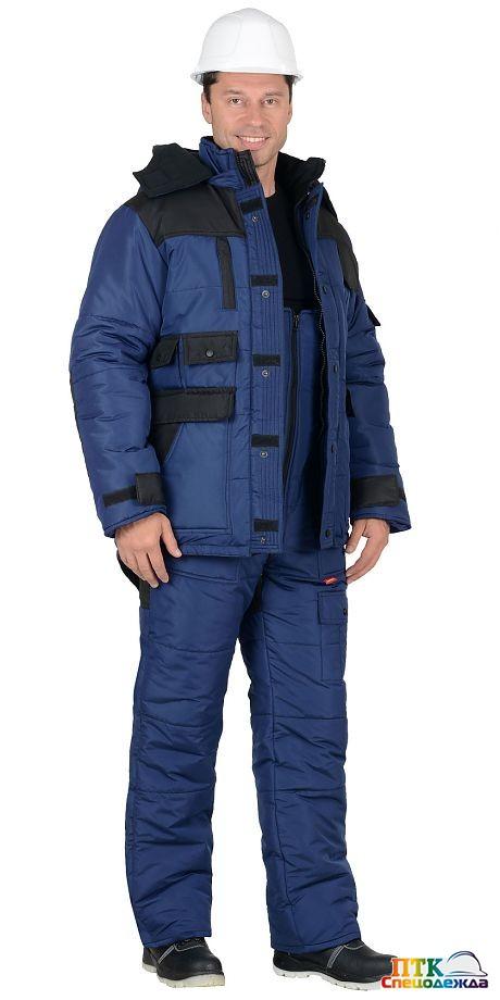 "Зимний костюм ""БЕРКУТ"" синий с чёрным"