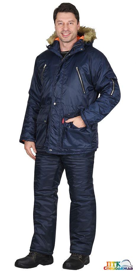 """Куртка """"АЛЯСКА"""" тёмно-синяя"""