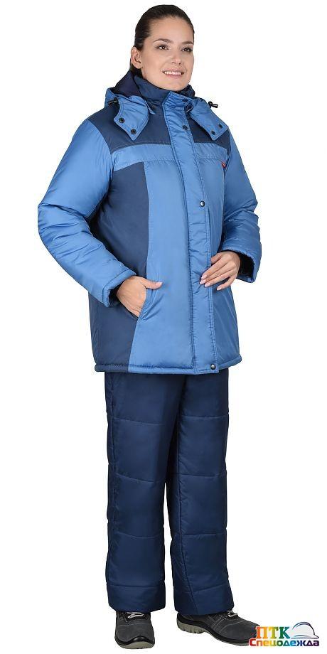 """Куртка """"ФРИСТАЙЛ"""" синяя с голубым"""