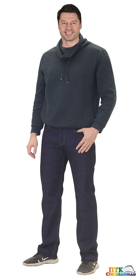 Брюки джинсовые тёмно-синий