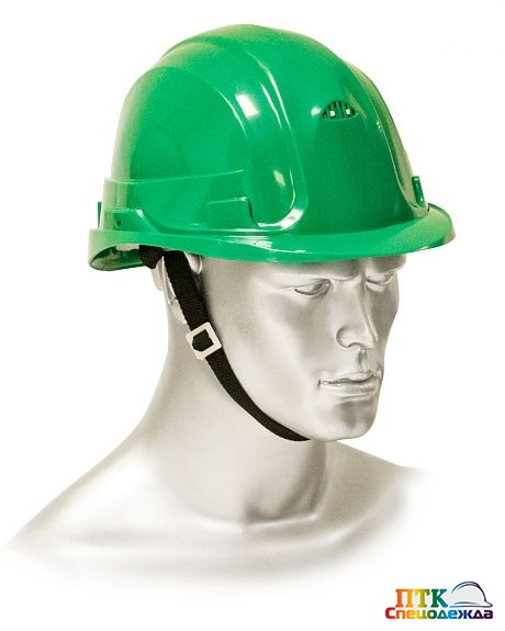 Каска защитная ЩИТ зеленая