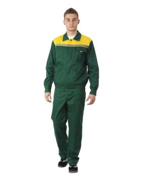 Костюм АВАНГАРД зелёный с желтым
