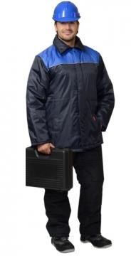 """Куртка """"БРИГАДИР-2"""" тёмно-синяя с васильковым"""