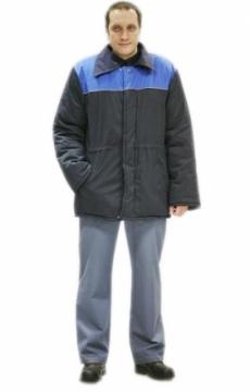 """Куртка """"БРИГАДИР"""" темно-синяя с васильковым"""