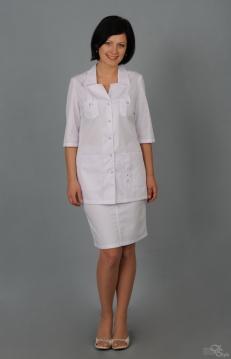 Блуза женская ЛАЙМ белый