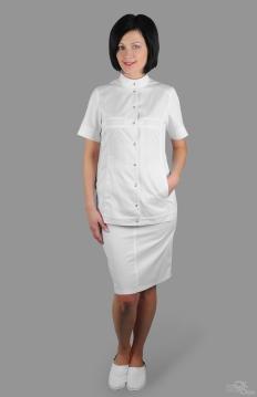 Блуза женская СПЕКТРА белый сатори
