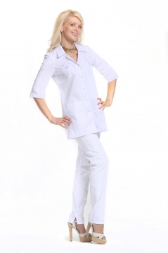 Блуза женская ЛАЙМ белый Сатори