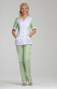 Блуза женская ПАНАЦЕЯ зеленый лист