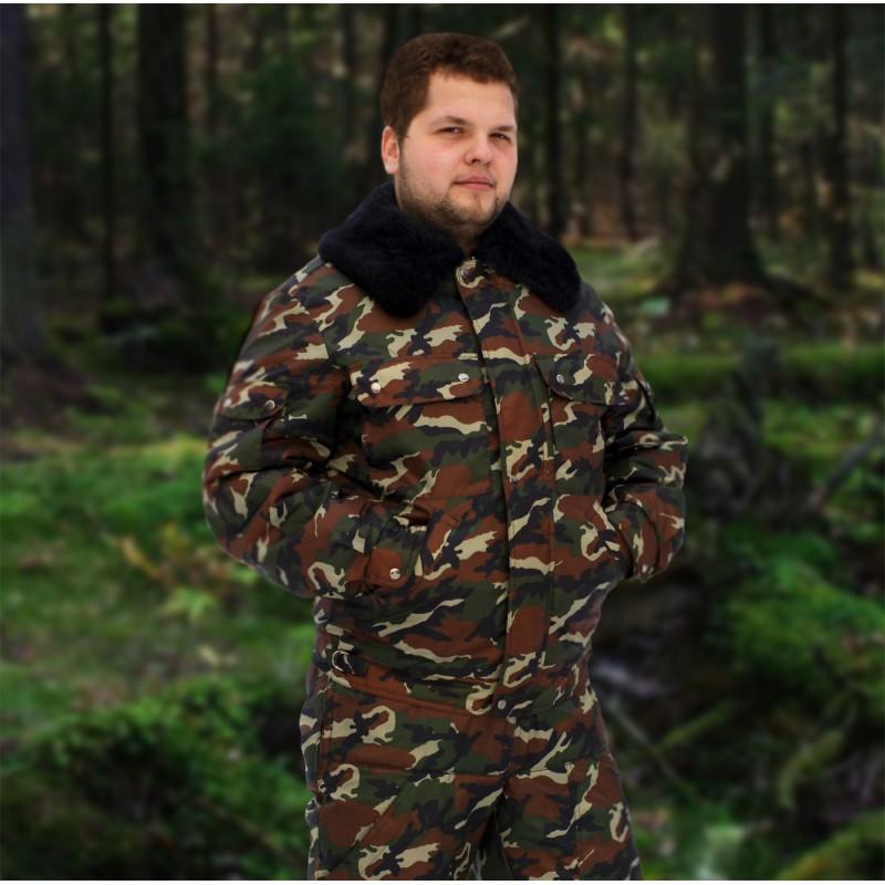 Куртка меховая крытая ОМОН (камуфлированная)