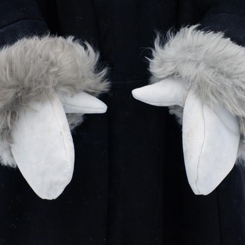 Рукавицы меховые (белые)