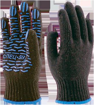 Перчатки х/б с ПВХ ВОЛНА СПЕЦ-SB® (Пер 013)