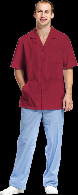 Блуза мужская Скай, цвет бордовый