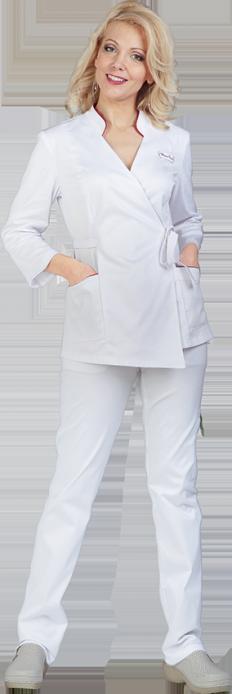 Блуза Алиса белого цвета
