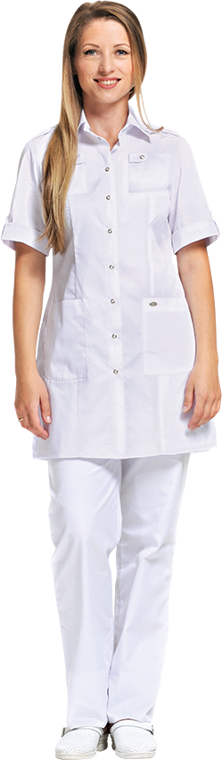Блуза Сафари №2 белого цвета