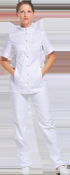 Блуза Спектра белого цвета