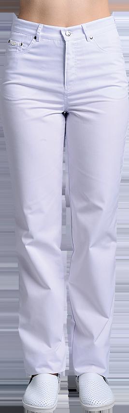 Брюки женские белые джинсы