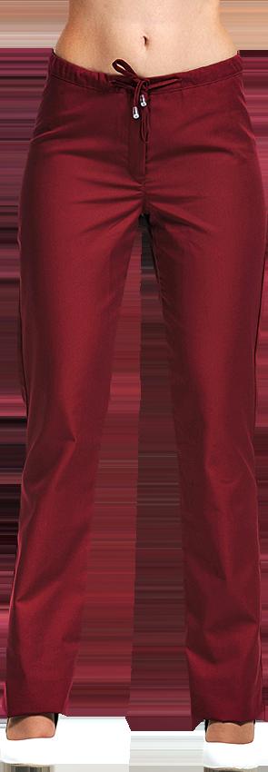 Брюки женские, цвет бордовый