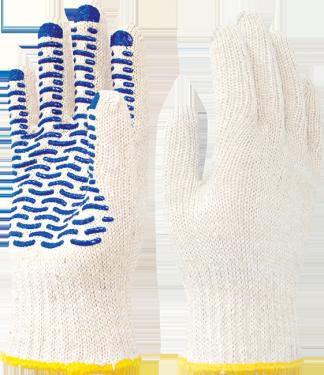 Перчатки х/б с ПВХ ВОЛНА (Пер 012)