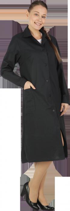 Халат рабочий БЯЗЬ чёрного цвета