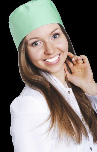 Колпак медицинский зеленого цвета