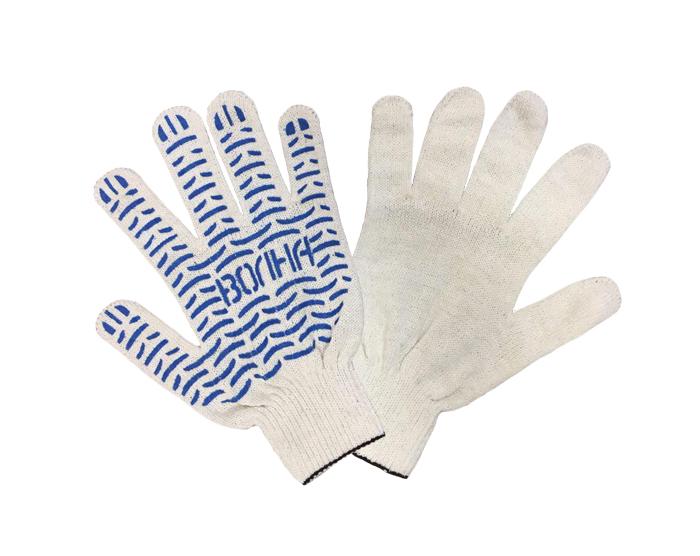 Перчатки рабочие ХБ с ПВХ 4 нити 10 класс