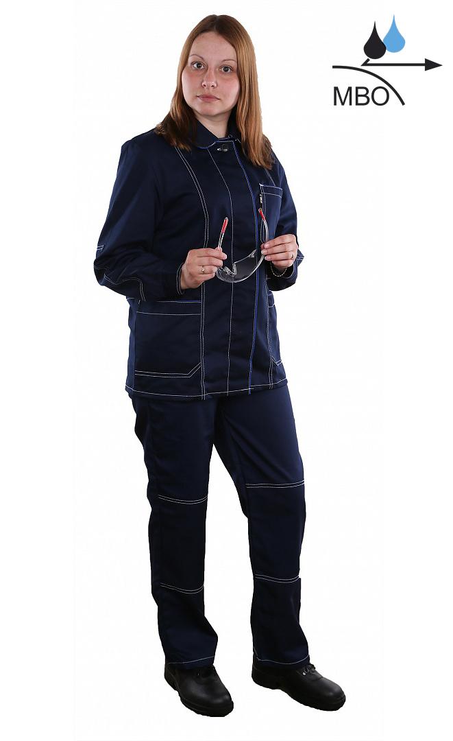 Костюм женский Сакура (тк.Саржа 250, МВО) брюки БиН, т.синий