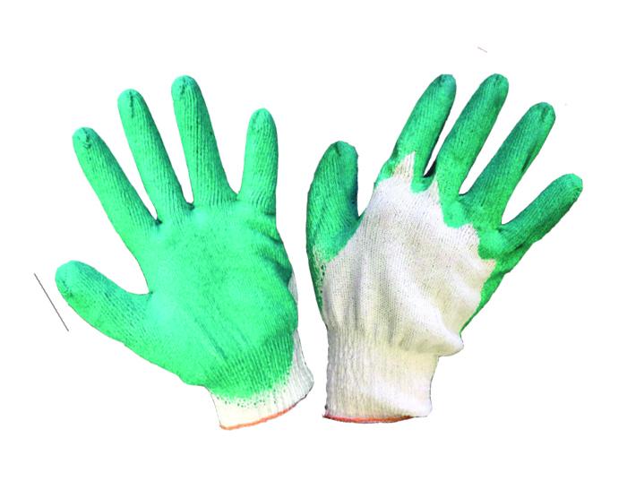 Перчатки трикотажные хб одинарный облив латекс
