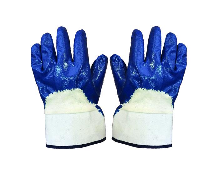 Перчатки нитриловые с полным покрытием (манжет - крага) двойной облив