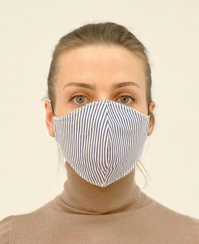 Полосатая защитная маска