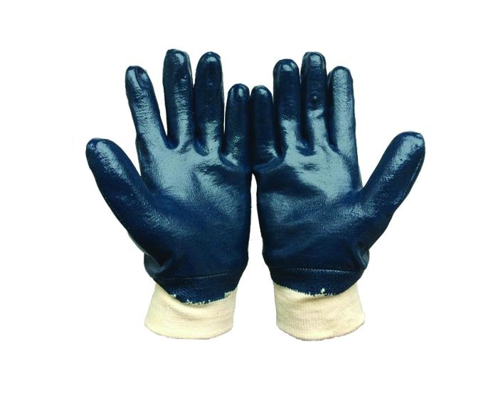 Перчатки нитриловые с полным покрытием (манжет- резинка) двойной облив