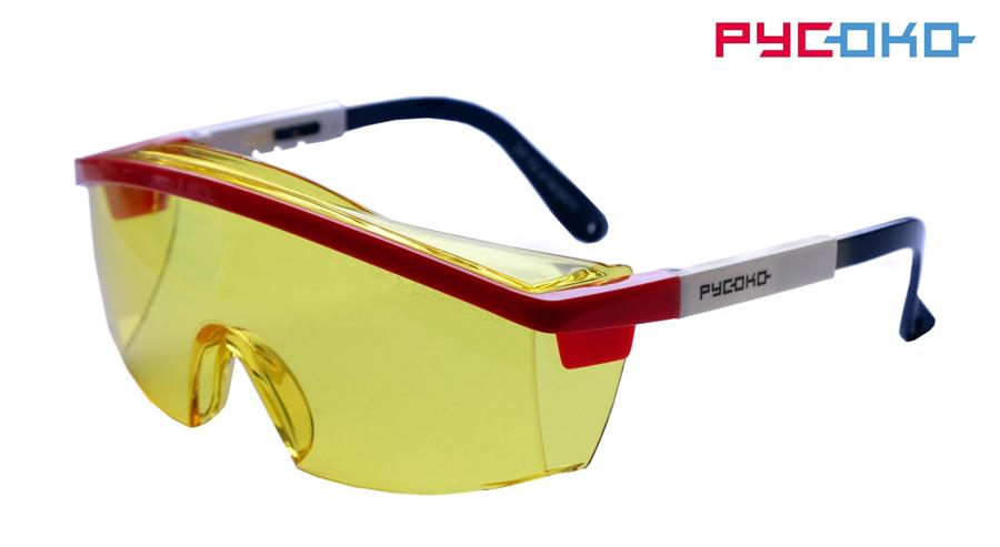 Защитные открытые очки Авиатор Контраст