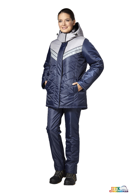 """Куртка """"Эребус"""" т.синий/серый (женская)"""