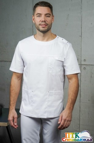 Блуза «Озон» белый NEW (ЛЛ 2214.01)