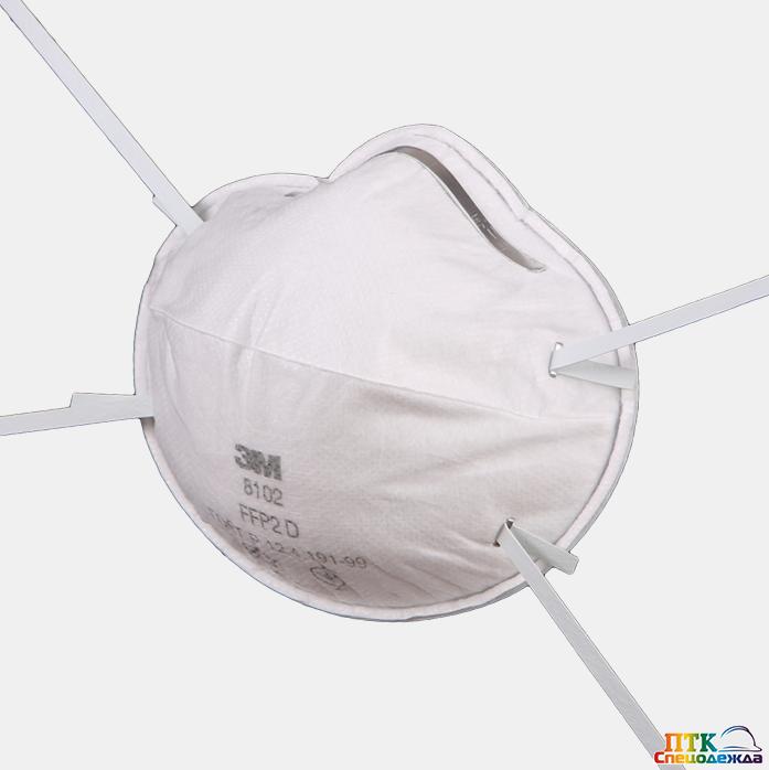 Респиратор 3М™ 8102, FFP2 (Рес 031.001)