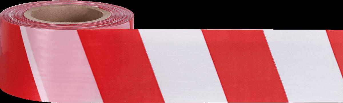 Лента оградительная 75 ш.(1х250) белая с красным, логотип СОЮЗ (Лен 004)