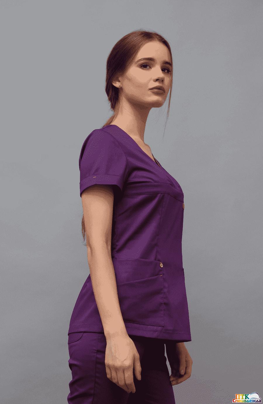 Блуза «Альфа», фиолетовый (ЛУ 1230.15)